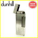 ダンヒル dunhill ライター メンズ ストライプ シルバー シルバーメタル 訳あり 【中古】 J13681 ★