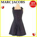 マークジェイコブス MARC JACOBS ワンピース フレアー レディース ♯2サイズ センターボタン ブラック C/100%(裏地)C/100% 超セール ...