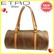 エトロ ETRO ハンドバッグ 筒型バッグ レディース ペイズリー ブラウン系×ゴールド 人気 セール 【中古】 J10270