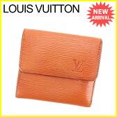 ルイ ヴィトン Louis Vuitton Wホック財布 三つ折り財布 エピ ブラウン エピレザー 人気 セール 【中古】 J14867