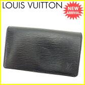 ルイ ヴィトン Louis Vuitton L字ファスナー財布 二つ折り財布 ポルトモビエトレゾール エピ ノワール(ブラック) エピレザー 良品 セール 【中古】 J15428