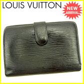 ルイ ヴィトン Louis Vuitton がま口財布 二つ折り財布 ポルトモネビエヴィエノワ エピ ノワール(ブラック) エピレザー 人気 セール 【中古】 J14685