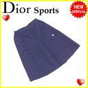 クリスチャンディオールスポーツ Christian Dior Sports スカート スカート風キュロット レディース ♯Lサイズ CD刺繍 ネイビー 良品 【中古】 L2130