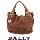 ショッピング訳あり 【中古】 バリー BALLY ハンドバッグ バッグ レディース メンズ ブラウン×ゴールド プレゼント バック ブランド 人気 収納 在庫一掃 1点物 兼用 男性 女性 良品 夏 C2891