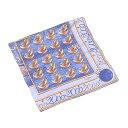 ショッピングスカーフ 【スーパーSALE】 【20%オフ】 【中古】 カルティエ Cartier スカーフ 大判サイズ レディース ブルー×イエローゴールド系 SILK 100% 【カルティエ】 L977
