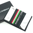 【中古】 ドルチェ&ガッバーナ DOLCE&GABBANA カードケース カード パスケース レディース シルバー×ブラック T13551