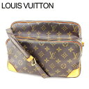 【中古】 ルイヴィトン Louis Vuitton ショルダーバッグ /斜め掛けショルダー メンズ可 ナイル モノグラム M45244 ブラウン PVC×レザー (あす楽対応)(良品・即納) M743 .