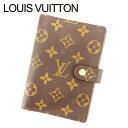 【中古】 ルイヴィトン Louis Vuitton 手帳カバー カード入れ×3 レディース アジェンダPM ブラウン モノグラムキャンバス T11537