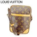 【中古】 ルイヴィトン Louis Vuitton ショルダーバッグ /斜めがけショルダー メンズ可 /ダヌーブ モノグラム M45266 ブラウン PVC×レザー (あす楽対応)(激安・即納) Y328