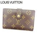 【中古】 ルイ ヴィトン Louis Vuitton がま口財布 財布 二つ折り ブラウン ポルトモネ ビエヴィエノワ モノグラム レディース Y687s