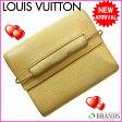 (激安・即納) ルイヴィトン Louis Vuitton 二つ折り財布 エピ ヴァニラ 【中古】 A02 ★