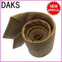 Bags, Accessories, Designer Items - 【中古】 【送料無料】 ( 美品 ・即納) ダックス DAKS ネクタイ メンズ スクエア ベージュ系 Silk 100% C692s .
