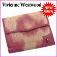 ヴィヴィアン ウエストウッド Vivienne Westwood Wホック財布 二つ折り レディース オーブ付き ピンク系×ブラックシルバー キャンバス×レザー (あす楽対応)激安 人気【中古】 C1613