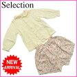 ベイビー ディオール&セリーヌ baby Dior&CELINE シャツ&パンツ 2点セット ガールズ サイズ80 ベビー (パンツ)チューリップ柄 ホワイト×ピンク C 100% (あす楽対応)【中古】 G129