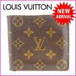(激安・即納) ルイヴィトン Louis Vuitton 二つ折り財布 ポルト・ビエ カルト クレディ モノグラム PVC×レザー 【中古】 J757