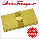 【送料無料】 サルヴァトーレ・フェラガモ Salvatore Ferragamo 長財布 ファスナー 二つ折