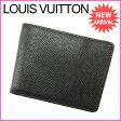 ルイヴィトン Louis Vuitton 二つ折り札入れ メンズ可 ポルトフォイユミュルティプル タイガ アルドワーズ PVC×レザー (あす楽対応)良品 人気(参考定価43050円)【中古】 E754