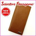【送料無料】 サルヴァトーレ・フェラガモ Salvatore Ferragamo 長財布 メンズ可 ライトブ