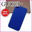 グッチ GUCCI iPhone4Sケース 携帯ケース メンズ可 GG柄 ブルー ラバー (あす楽対応)人気 良品【中古】 J6132