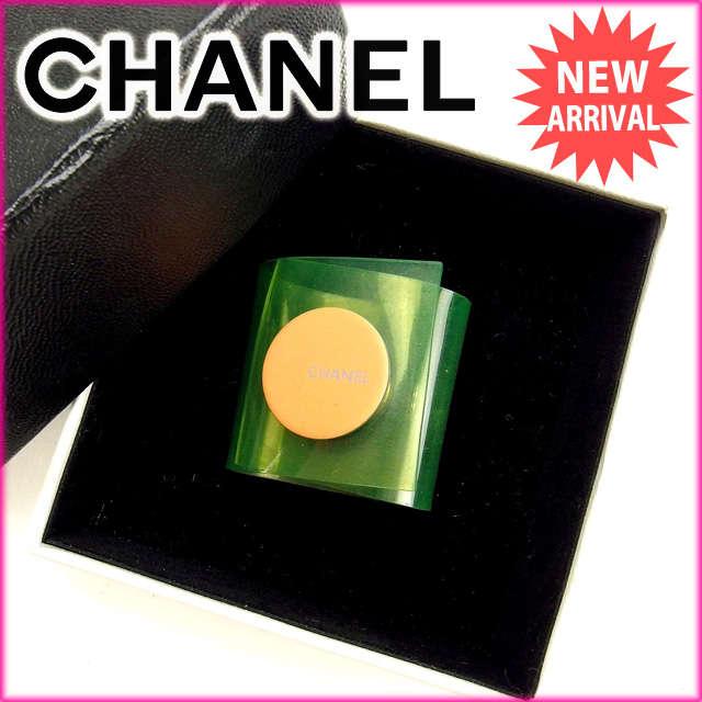 【送料無料】 シャネル CHANEL 指輪 リング レディース グリーン ビニール (対応) 人気 【】 B730 シャネル 指輪