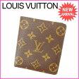 ルイヴィトン Louis Vuitton 二つ折り札入れ メンズ可 ポルト ビエ・10カルト クレディ モノグラム M60883 PVC×レザー (あす楽対応) 良品【中古】 J6398