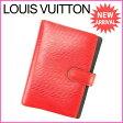 【送料無料】 ルイヴィトン Louis Vuitton 手帳カバー カード入れ×3 メンズ可 アジェンダPM エピ R20057 レッド PVC×レザー (あす楽対応) (参考定価39900円)【中古】 J7203
