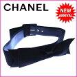 シャネル CHANEL ベルト ♯80/32 レディース ヴィンテージ リボン付き ブラック×ゴールド サテン×レザー (あす楽対応)激安 セール【中古】 J7782
