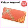 ヴィヴィアン・ウエストウッド Vivienne Westwood 長財布 レディース オーブ オレンジ×イエロー PVC×レザー (あす楽対応)良品 セール【中古】 E872