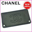 【送料無料】 シャネル CHANEL 長財布 ファスナー 二つ折り メンズ可 ココマーク ブラック×