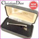 【中古】 クリスチャン ディオール ネクタイピン シルバー Christian Dior 【ディオール】 P186 .