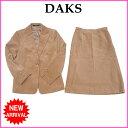 ショッピングスカート 【中古】 ダックス DAKS スーツ タイトスカート セットアップ レディース テーラージャケット ベージュ Q026