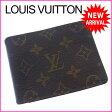 ルイヴィトン Louis Vuitton 二つ折り札入れ コンパクトサイズ メンズ可 ポルトフォイユミュルティプル モノグラム ブラウン PVC×レザー (あす楽対応)激安 セール(参考定価43050円)【中古】 J6526
