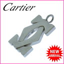 其它 - 【送料無料】 カルティエ Cartier ペンダントトップ チャーム メンズ可 2Cモチーフ シルバー シルバー金具 (あす楽対応) 良品【中古】 J6628 ★
