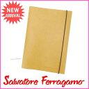 【送料無料】 サルヴァトーレ・フェラガモ Salvatore Ferragamo 書類ケース メンズ可 ライトブラウン レザー (あす楽対応) 人気 未使用【中古】 J6921