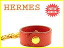 エルメス HERMES グローブホルダー レディース ノマド レッド×ゴールド 良品 セール  Y5148 .