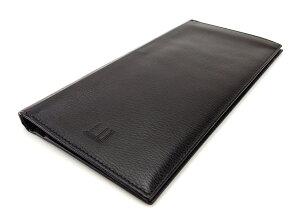 【中古】 ダンヒル 長札入れ 二つ折り 財布 ブラック