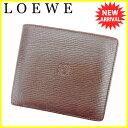 【中古】 【送料無料】 ロエベ LOEWE 二つ折り 財布 ...