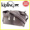 キプリング Kipling ショルダーバッグ 斜めがけショルダー ロゴチャーム ブラウン×シルバー PVC 人気 セール 【中古】 C2137