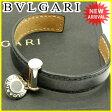 ブルガリ BVLGARI ブレスレット アクセサリー メンズ可 ネイビー×シルバー レザー 良品 セール 【中古】 J13795