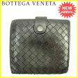ボッテガ ヴェネタ Bottega Veneta Wホック財布 メンズ可 イントレチャート ブラック レザー 人気 セール 【中古】 J14309 ★
