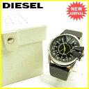 【送料無料】 ディーゼル DIESEL 腕時計 アクセサリー メンズ ブラック×シルバー レザー×シルバー素材 良品 セール 【中古】 J15035