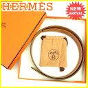 エルメス HERMES ベルト バックルなし レディース メンズ 可 ブラウン×ブラック レザー 人気 未使用 【未使用】 L1479