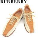 【中古】 バーバリー スニーカー シューズ 靴 #24 ライ...