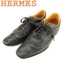 【中古】 エルメス HERMES スニーカー シューズ 靴 メンズ ♯40ハーフ ローカット ブラッ...