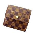 【中古】 【送料無料】 ルイヴィトン Louis Vuitton Wホック財布 メンズ可 ポルトフォイユ エリーズ ダミエ PVC×レザー (あす楽対応) 人気 D1023s