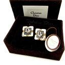 クリスチャン ディオール カフス ヴィンテージ ゴールド×ブラック Christian Dior  T14591 .