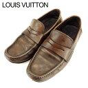 ショッピング処分 【中古】 ルイ ヴィトン ローファー シューズ 靴 #6 ダミエ ブラウン レザー Louis Vuitton レディース プレゼント 贈り物 1点物 人気 良品 秋 迅速発送 オシャレ 大人 在庫処分 ファッション T9399