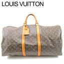 【中古】 ルイ ヴィトン Louis Vuitton ボストンバッグ /トラベルバッグ レディース メンズ /キーポル60 モノグラム ブラウン PVC×レザ- 人気 セール T9799