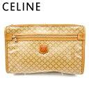 【中古】 セリーヌ クラッチバッグ セカンドバッグ マカダム ベージュ PVC×レザー CELINE 【セリーヌ】 E1449 .