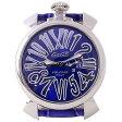 ガガミラノ 時計 マヌアーレ スリム 46mm 2013年 モデル 5084.3 ブルー ソレイユ 【男女兼用腕時計】 【あす楽対応_関東】